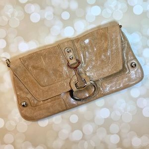 Charles David Tan Leather Clutch